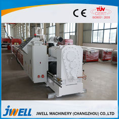 PVC WPC Plastik Profil Garis Ekstrusi, Twin Screw Extruder Machine Popular Door Cover